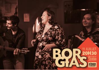 Diner Concert au Bistrot Bohème / Samedi 11 juillet à 20h30