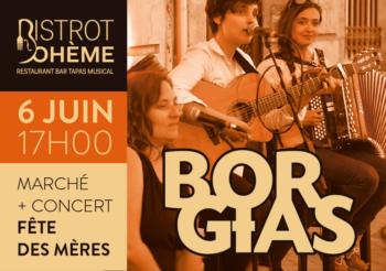 Concert au Bistrot Bohème – marché de créateur / samedi 6 juin à 17h