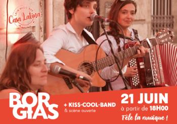 Borgias fête la musique / 21 juin à 18h – Casa Latina Bordeaux